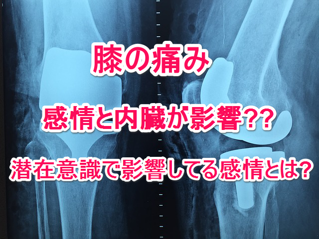 膝が痛くて正座を維持出来ない原因が潜在意識での感情や内臓な症例